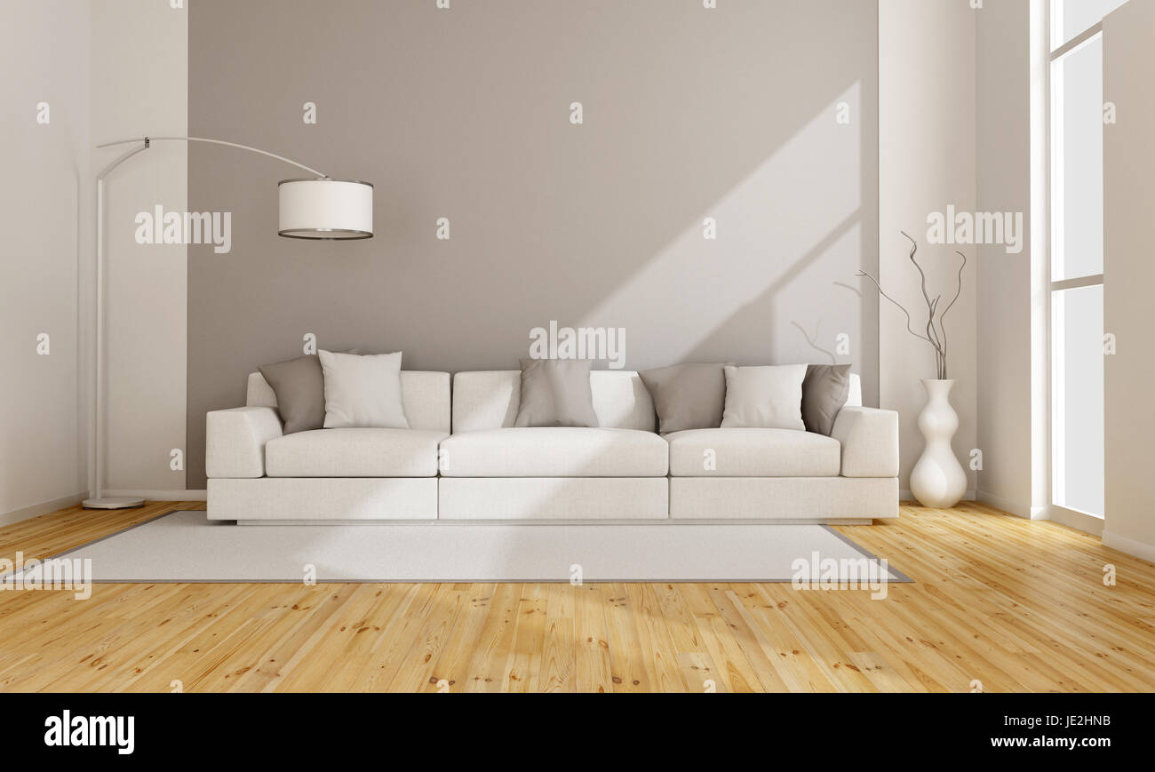 Strange Minimalist Lounge With White Sofa 3D Rendering Stock Photo Unemploymentrelief Wooden Chair Designs For Living Room Unemploymentrelieforg
