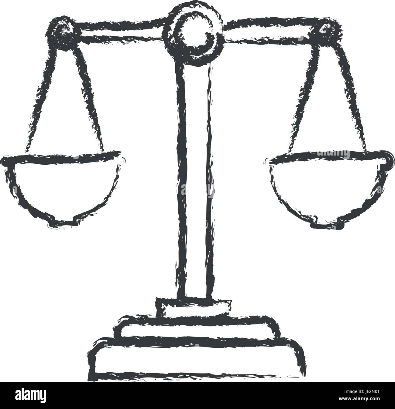 monochrome blurred silhouette of justice scales - Stock Vector