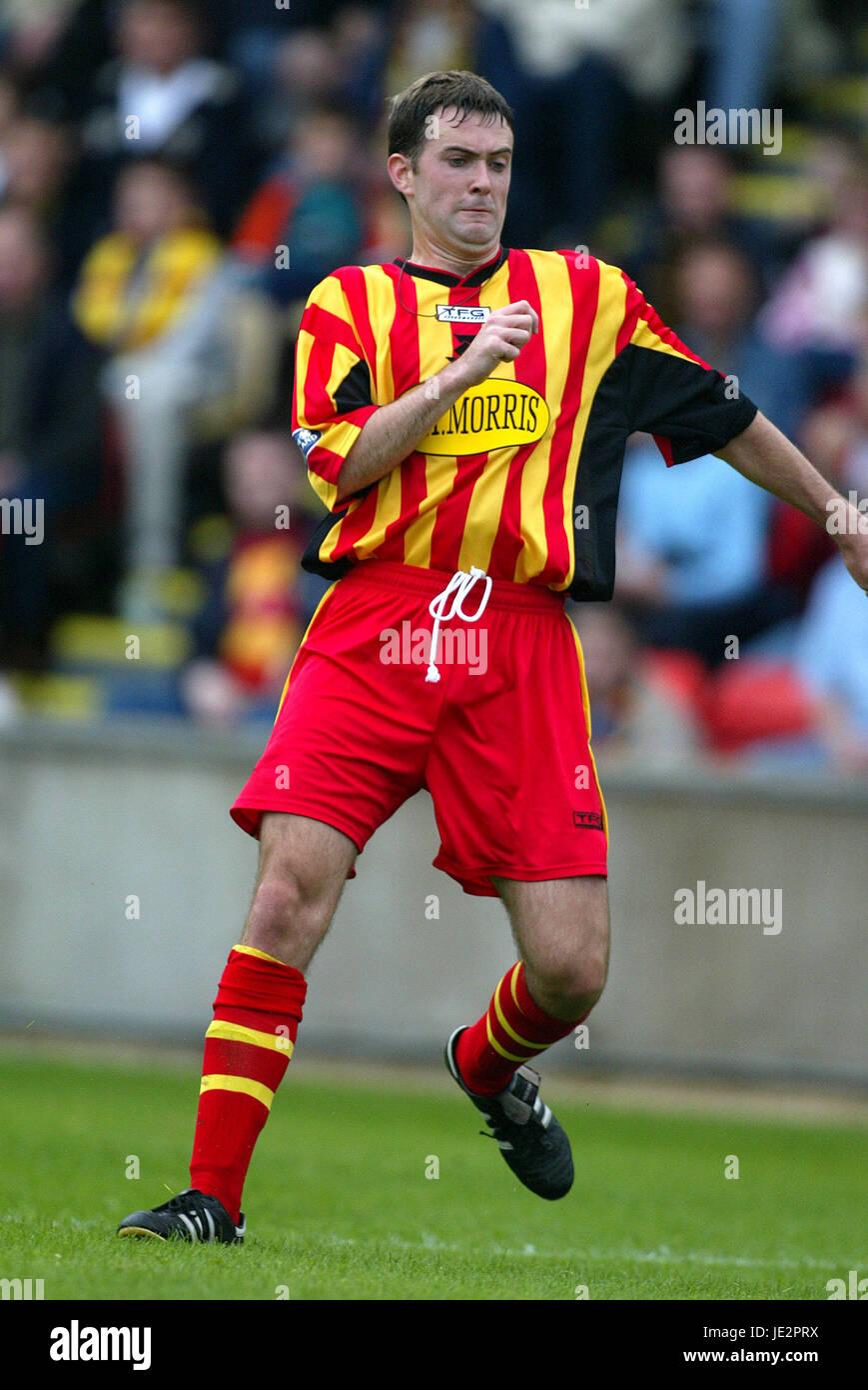JAMES MCKINSTRY PARTICK THISTLE FC FIRHILL GLASGOW SCOTLAND 03 August 2002 - Stock Image