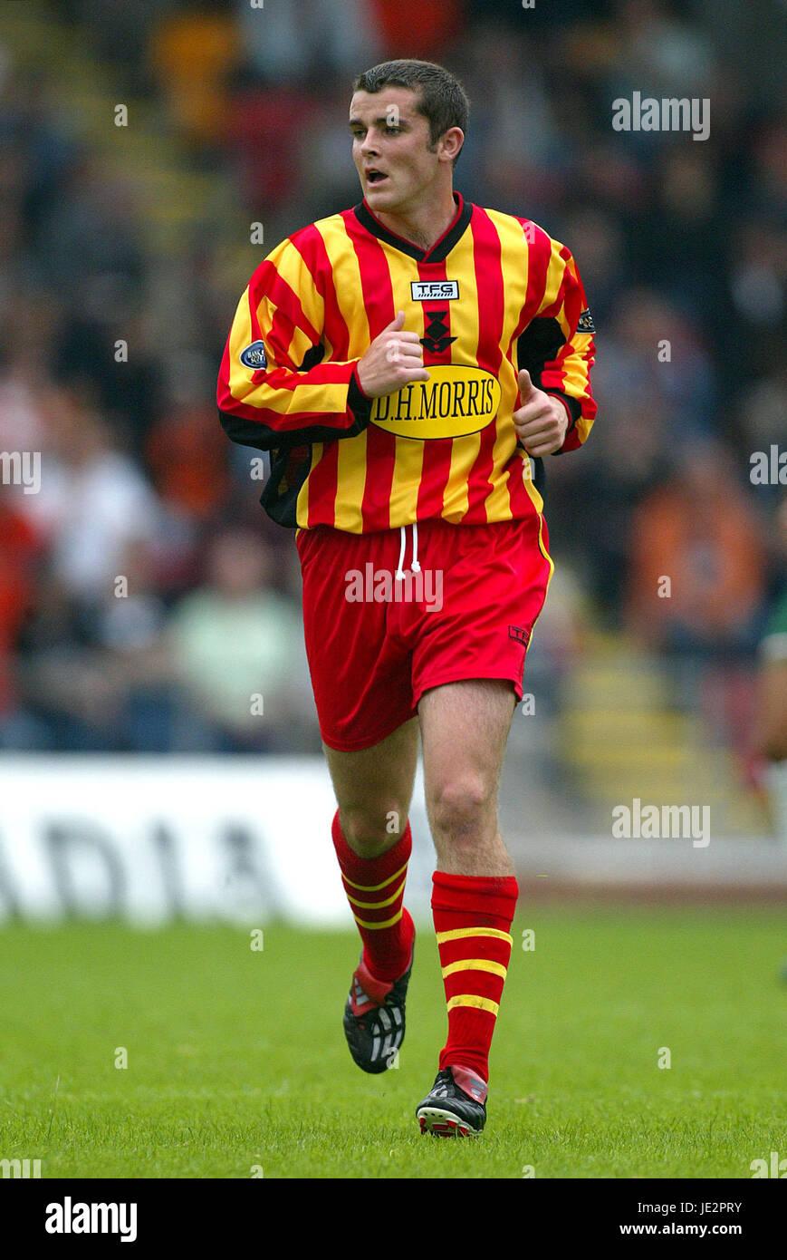 JAMIE BUCHAN PARTICK THISTLE FC FIRHILL GLASGOW SCOTLAND 03 August 2002 - Stock Image