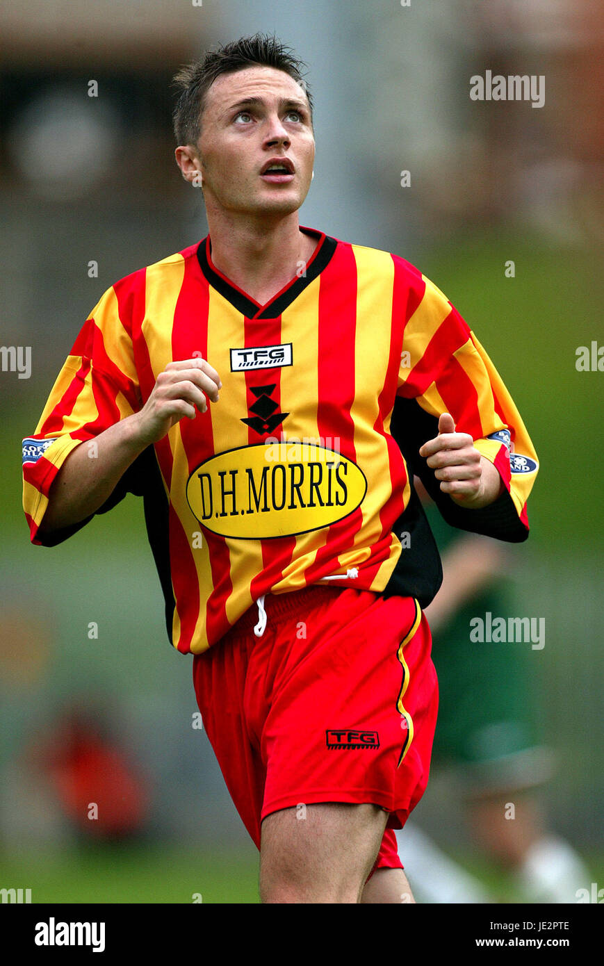 JAMIE MITCHELL PARTICK THISTLE FC FIRHILL GLASGOW SCOTLAND 03 August 2002 - Stock Image
