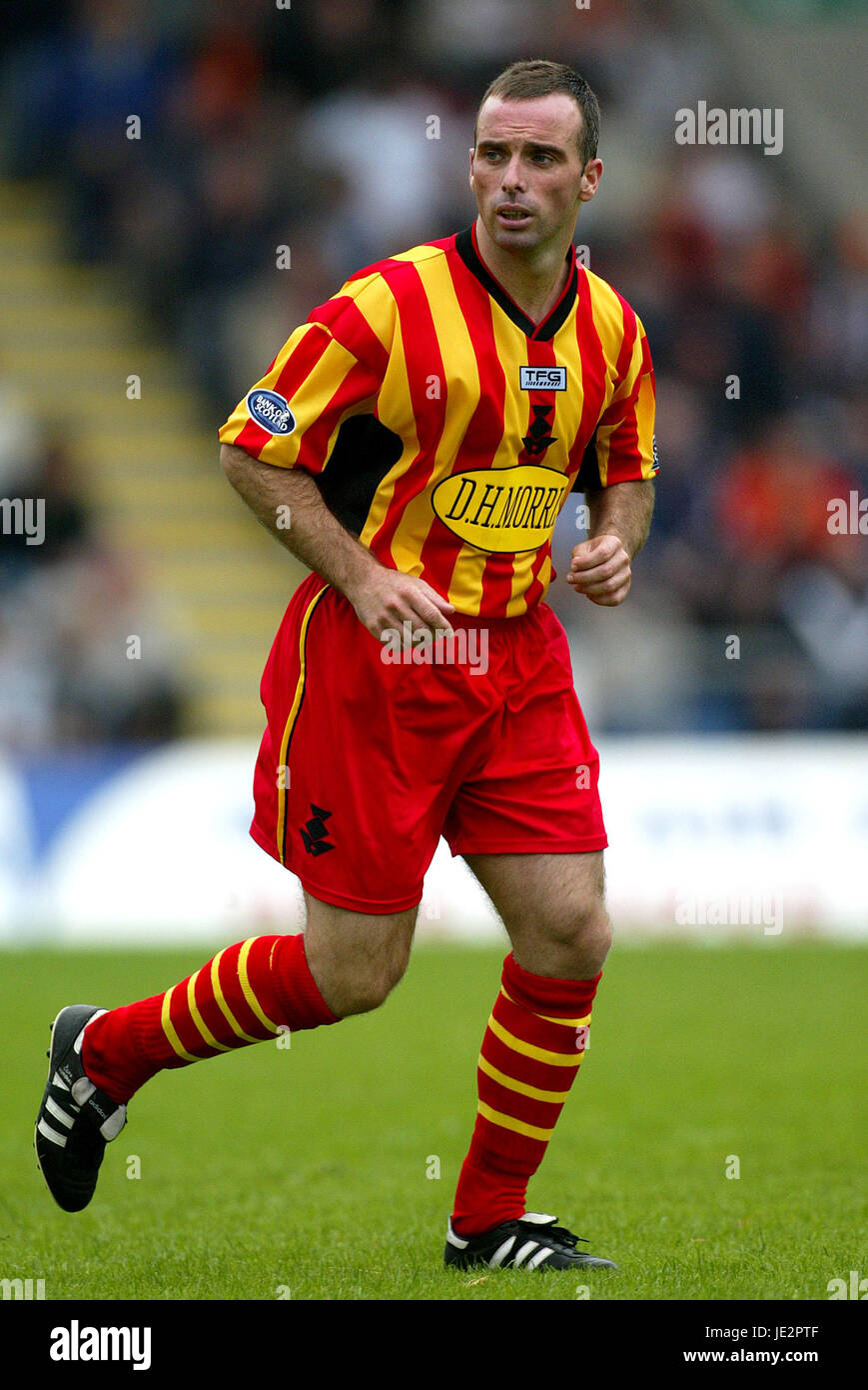 ALEX BURNS PARTICK THISTLE FC FIRHILL GLASGOW SCOTLAND 03 August 2002 Stock Photo