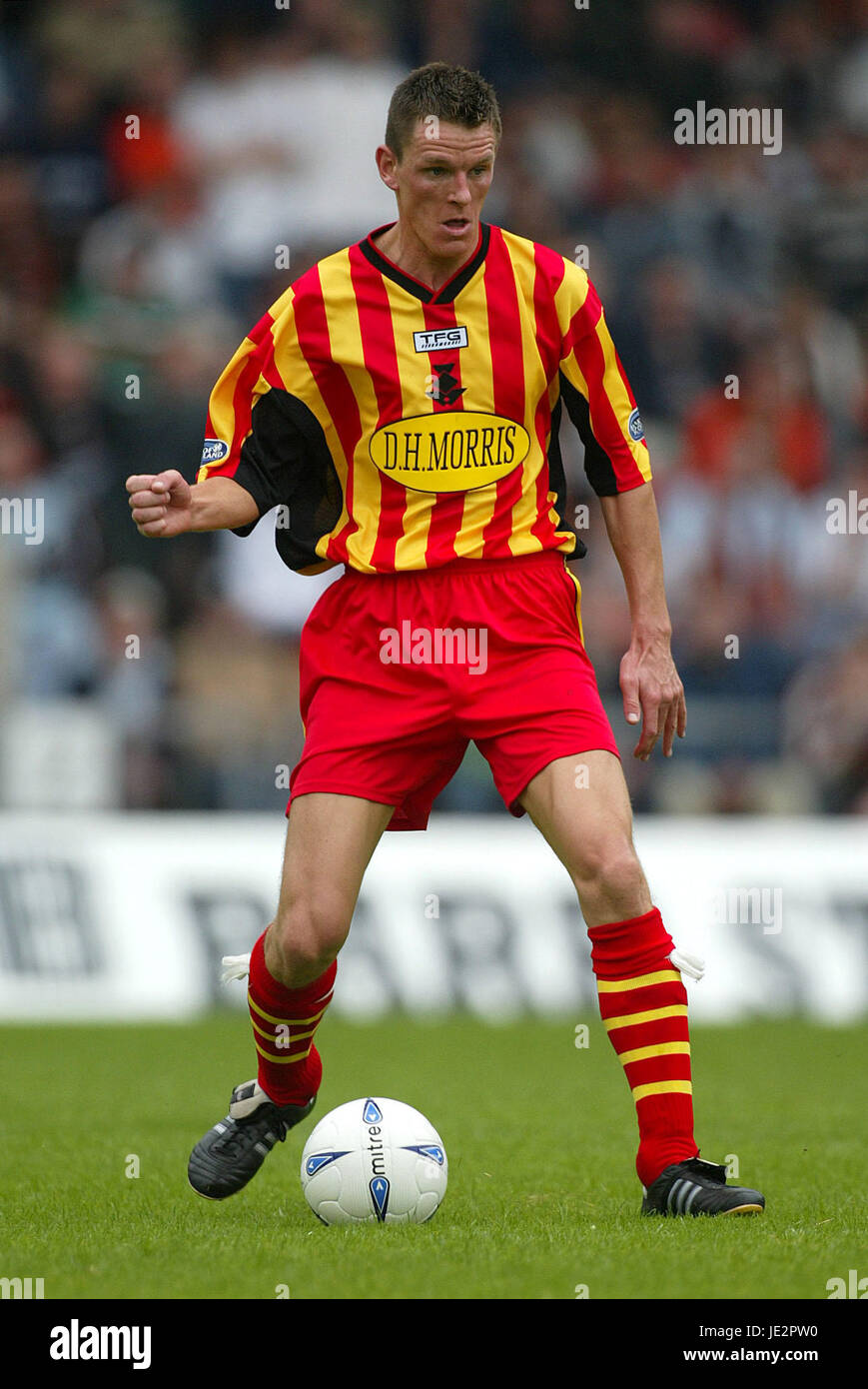 MARTIN HARDIE PARTICK THISTLE FC FIRHILL GLASGOW SCOTLAND 03 August 2002 - Stock Image