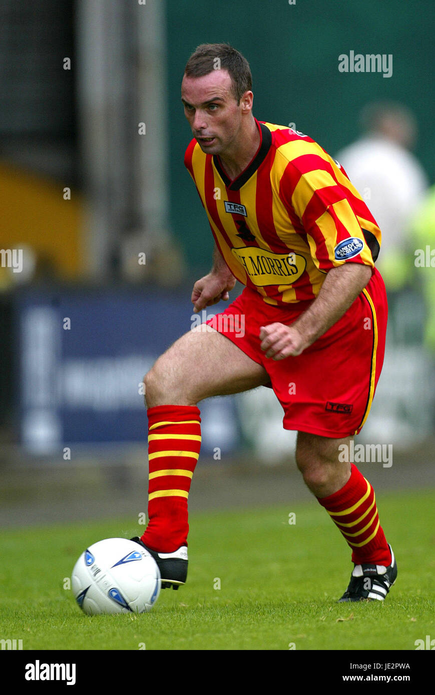 ALEX BURNS PARTICK THISTLE FC FIRHILL GLASGOW SCOTLAND 03 August 2002 - Stock Image