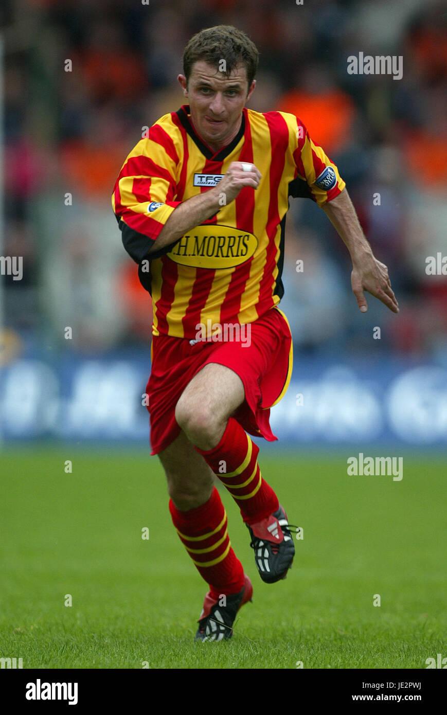 PAUL WALKER PARTICK THISTLE FC FIRHILL GLASGOW SCOTLAND 03 August 2002 - Stock Image