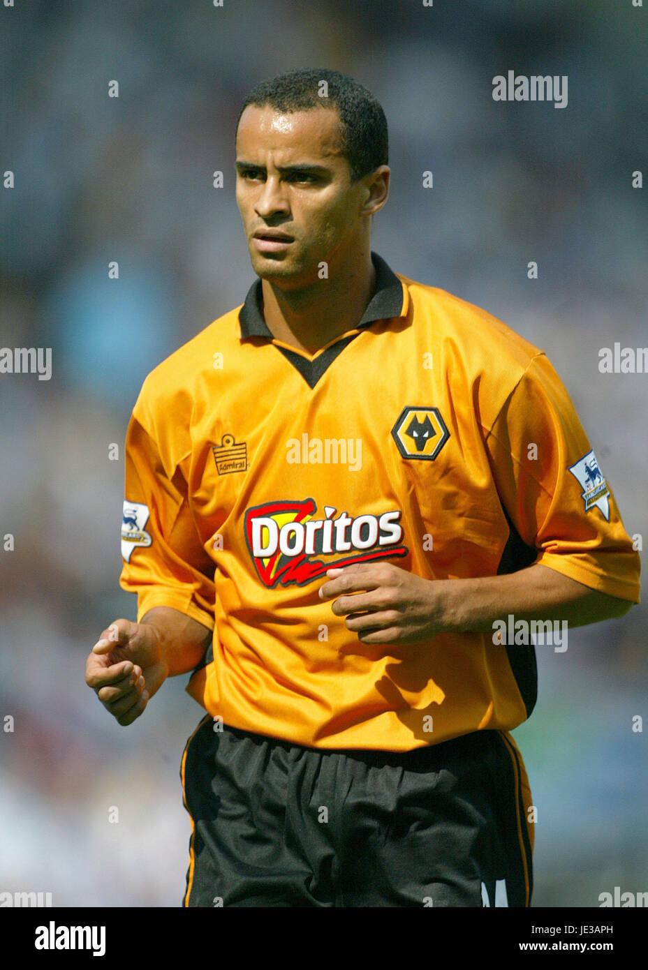 SILAS WOLVERHAMPTON WANDERERS FC EWOOD PARK BLACKBURN ENGLAND 16 August 2003 - Stock Image