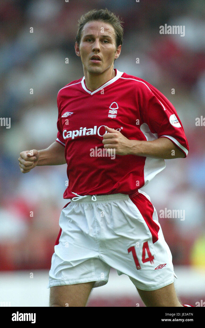 EOIN JESS NOTTINGHAM FOREST FC CITY GROUND NOTTINGHAM ENGLAND 09 August 2003 - Stock Image