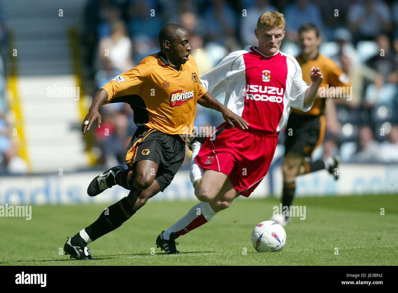 CLAUS JORGENSEN & SHAUN NEWTON COVENTRY CITY V WOLVES HIGHFIELD ROAD COVENTRY ENGLAND 02 August 2003 - Stock Image