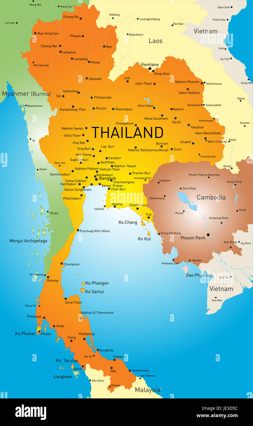North South Vietnam Map Stock Photos North South Vietnam Map Stock
