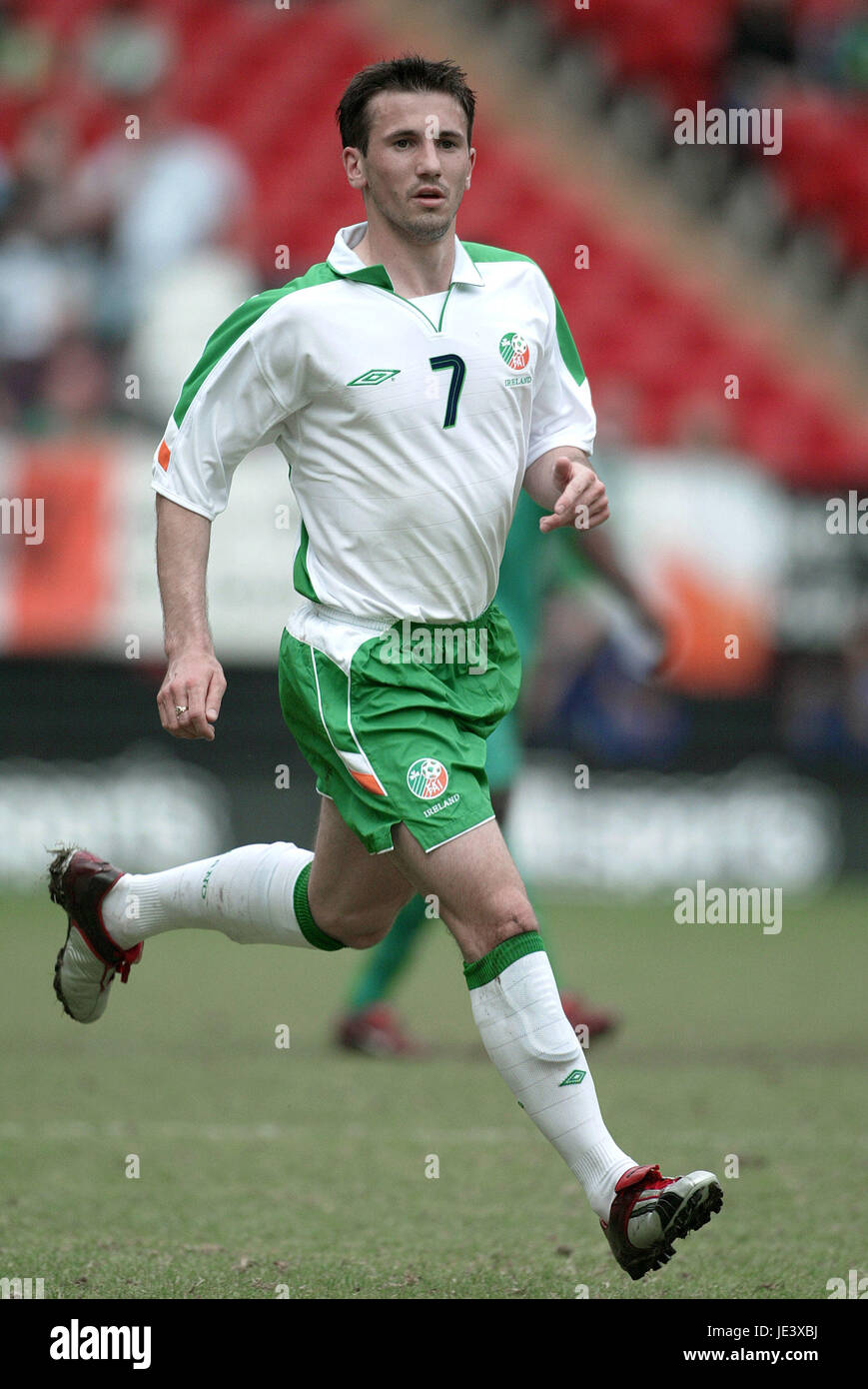 LIAM MILLER REP OF IRELAND & MANCHESTER UT THE VALLEY CHARLTON ENGLAND 29 May 2004 - Stock Image