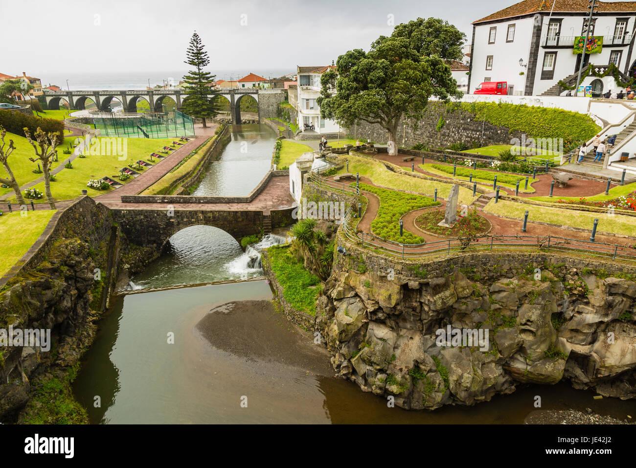 Ribeira Grande Town Gardens on Sao Miguel Island, archipelago of the ...