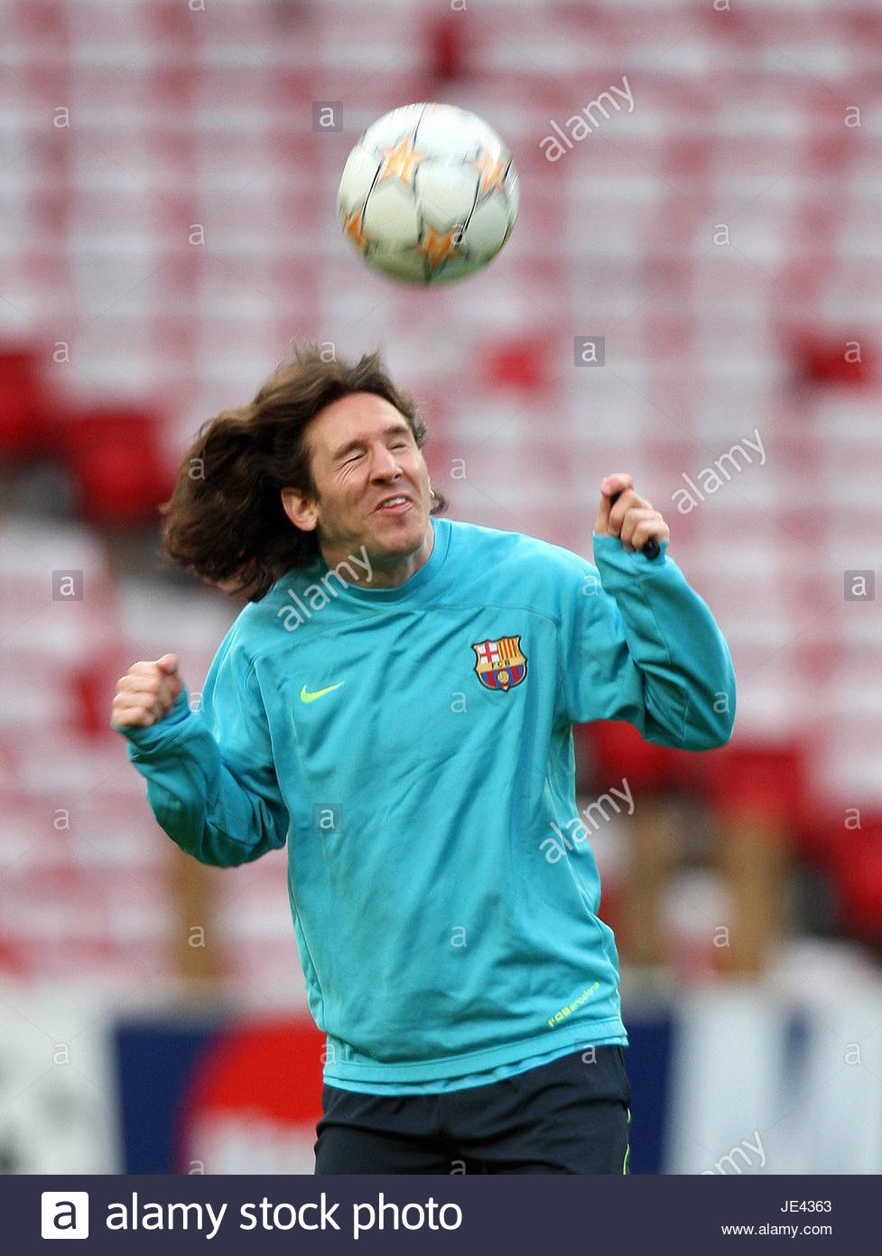 File photo dated 28-04-2008 of Barcelona's Lionel Messi - Stock Image