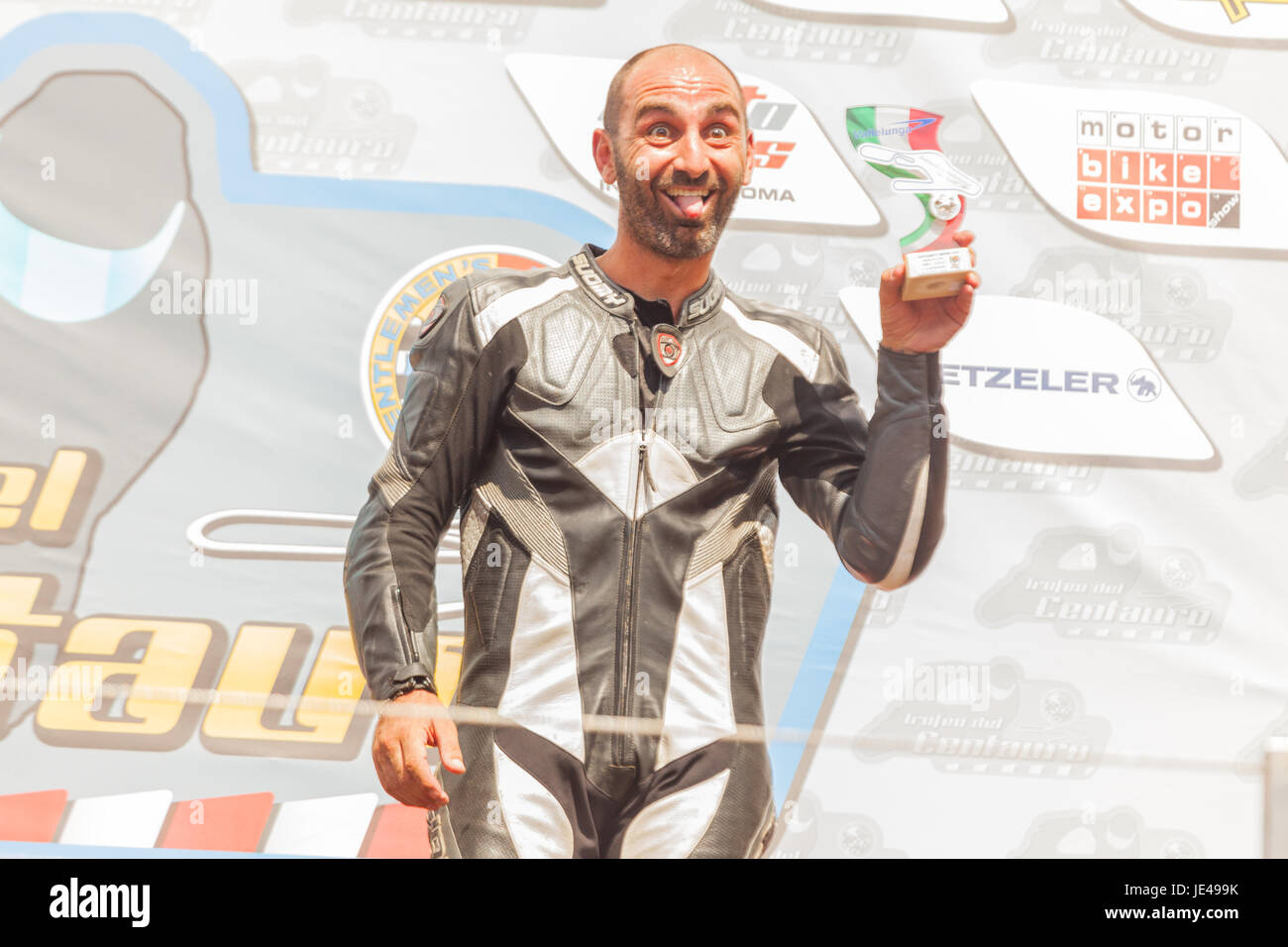Trofeo di motociclismo: Città di Otricoli 2017 Stock Photo