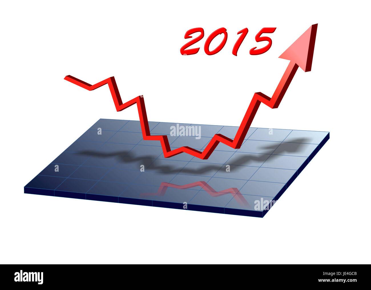 Neujahr 2015 - Stock Image