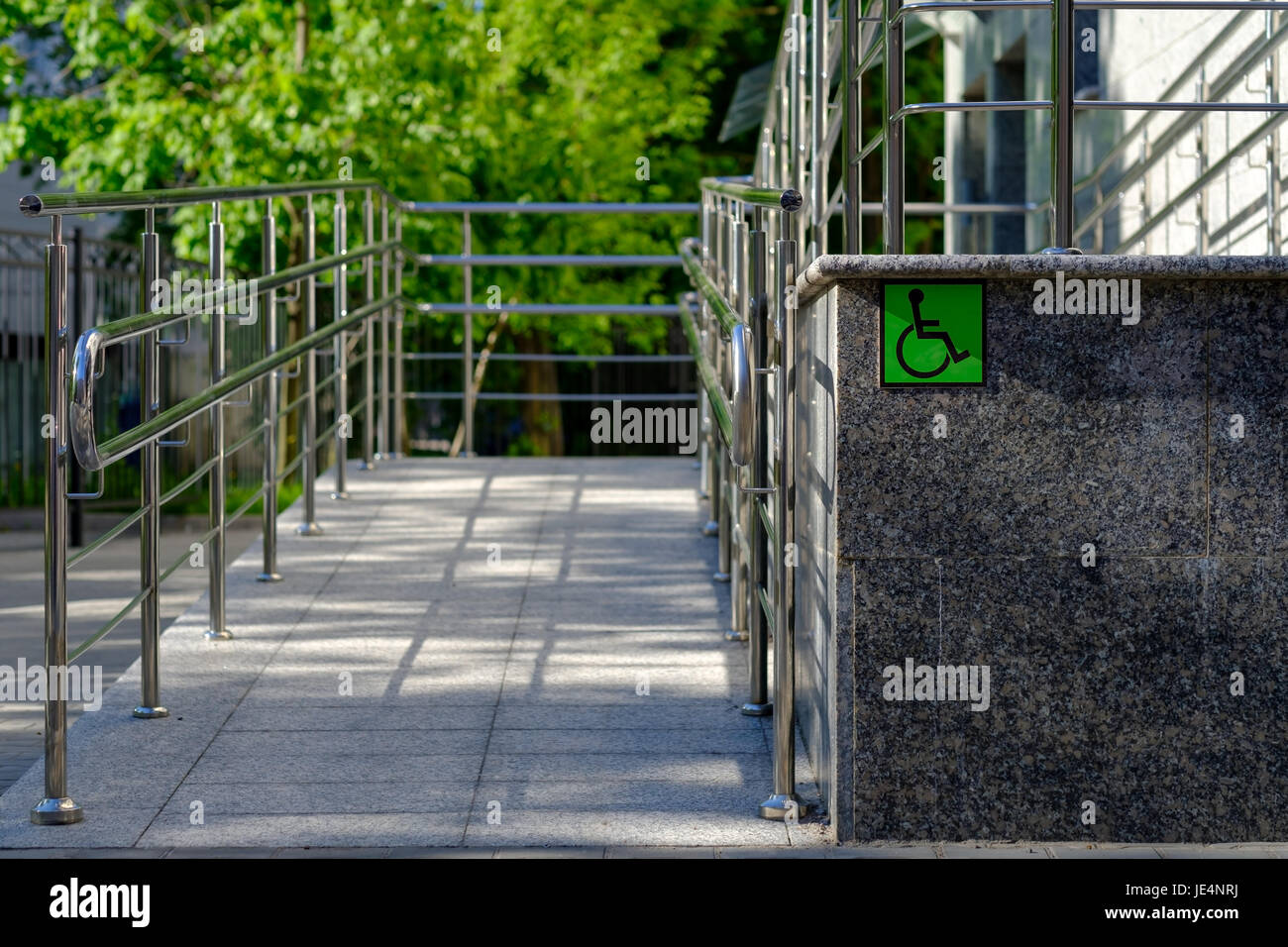Equipped with outdoor access for the disabled. - Stock Image