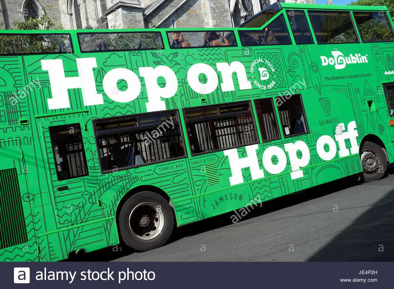 Hop On Hop Off   Official Guided Open Top Tour Bus In Dublin, Ireland.