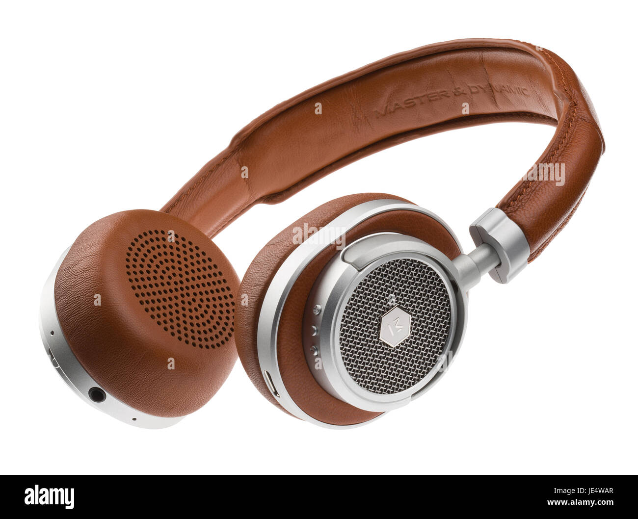 Master and Dynamic MW50 headphones. - Stock Image