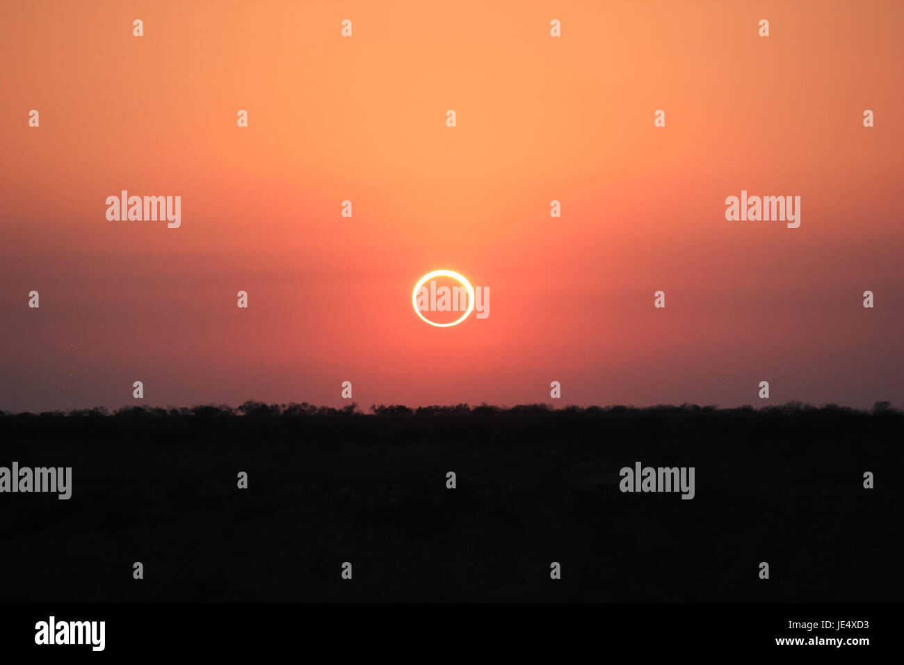 Ring of Fire Solar Eclipse #17 - Stock Image