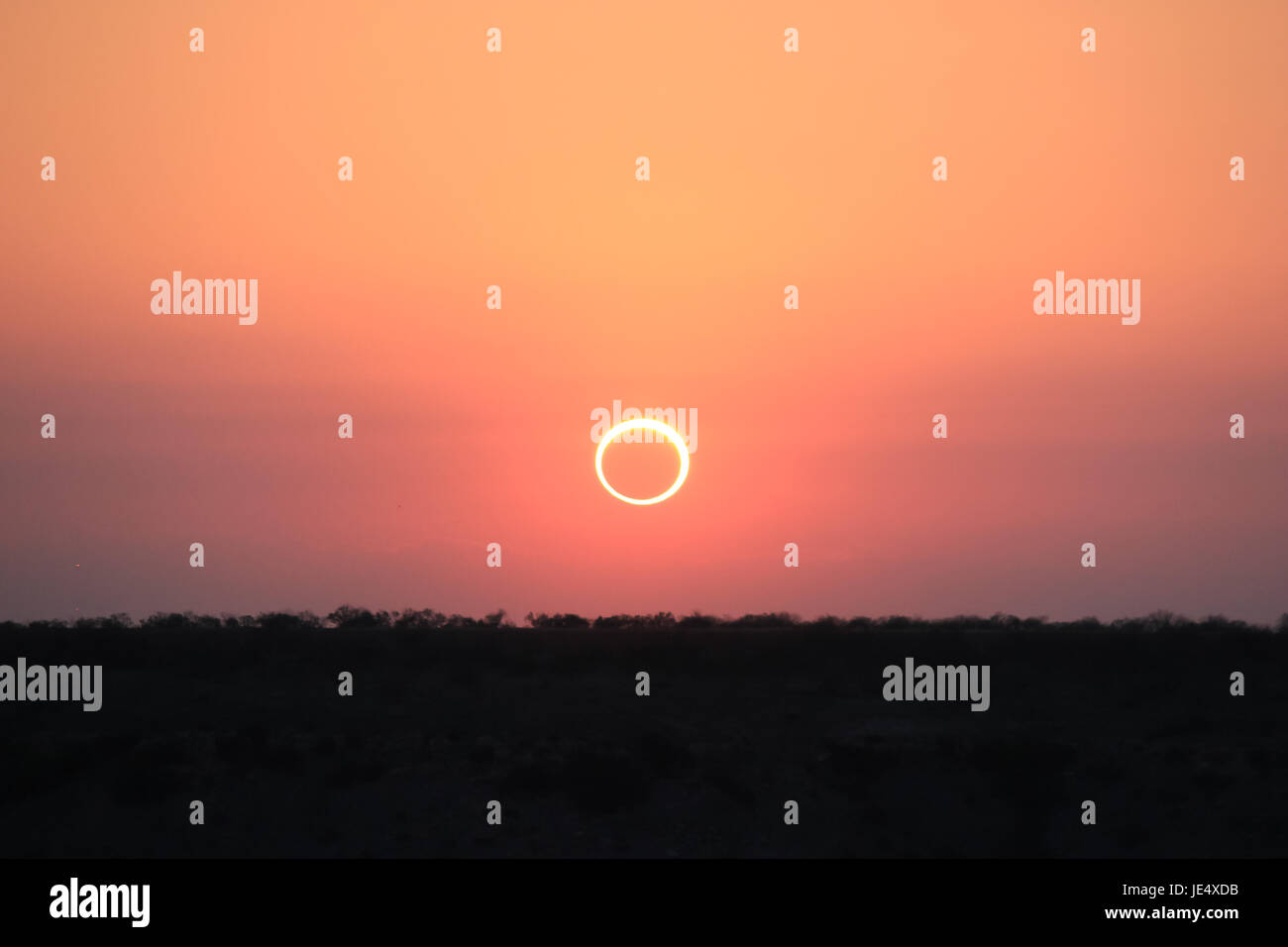 Ring of Fire Solar Eclipse #16 - Stock Image