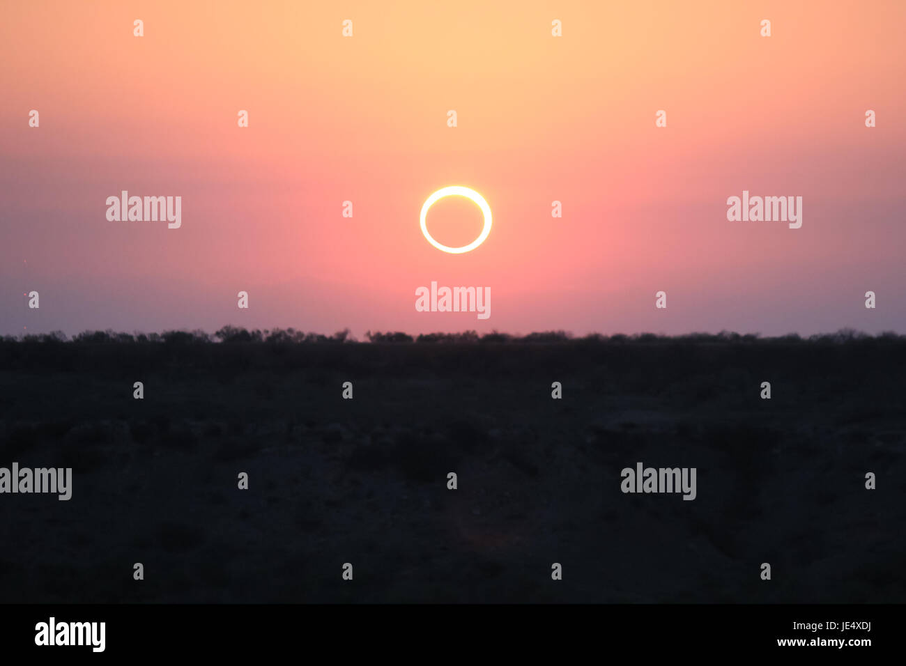 Ring of Fire Solar Eclipse #15 - Stock Image