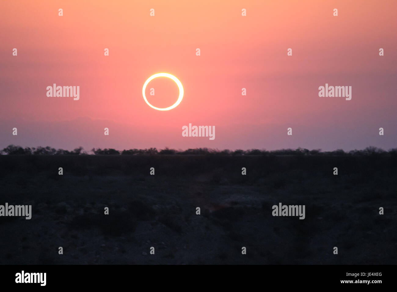 Ring of Fire Solar Eclipse #13 - Stock Image