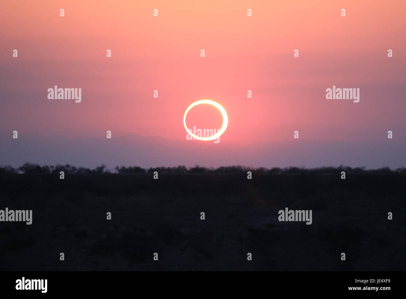 Ring of Fire Solar Eclipse #12 - Stock Image