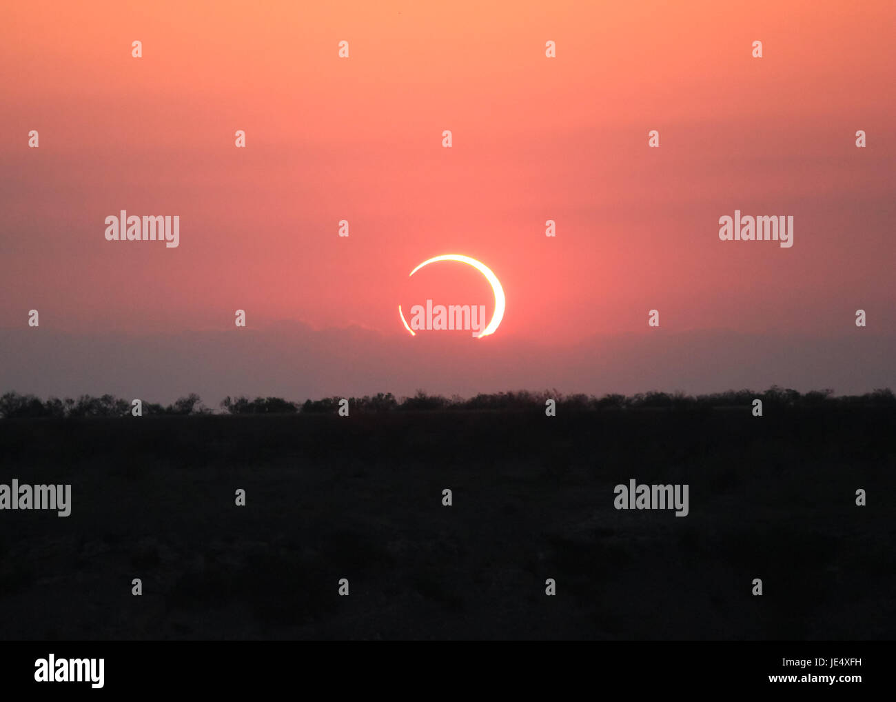 Ring of Fire Solar Eclipse #10 - Stock Image