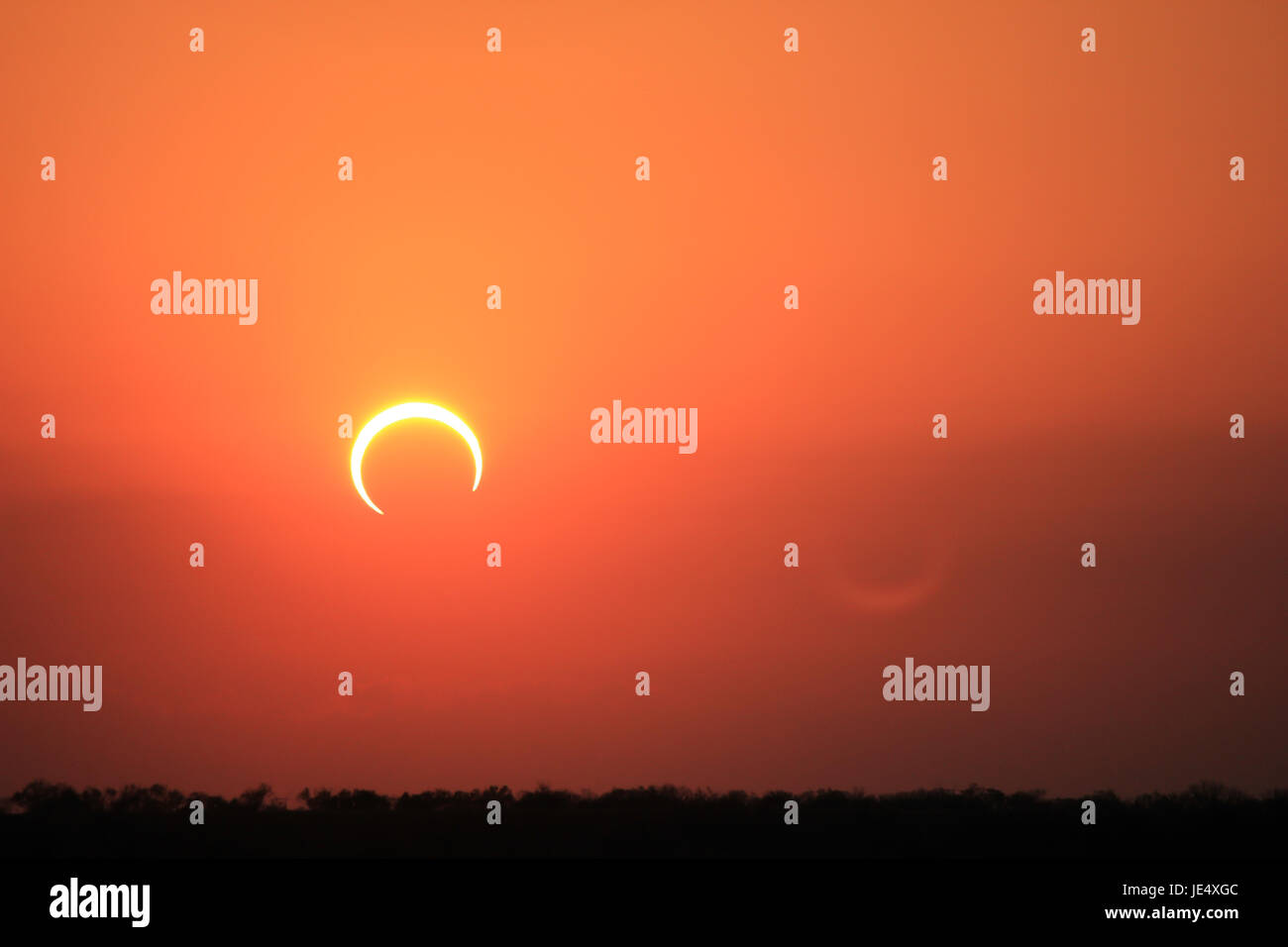Ring of Fire Solar Eclipse #8 Stock Photo