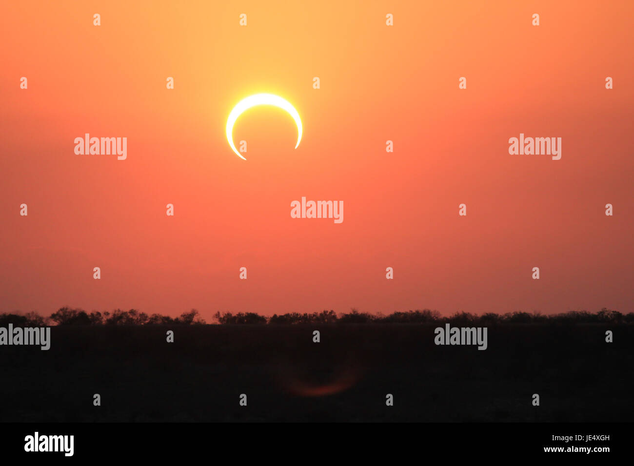 Ring of Fire Solar Eclipse #7 - Stock Image