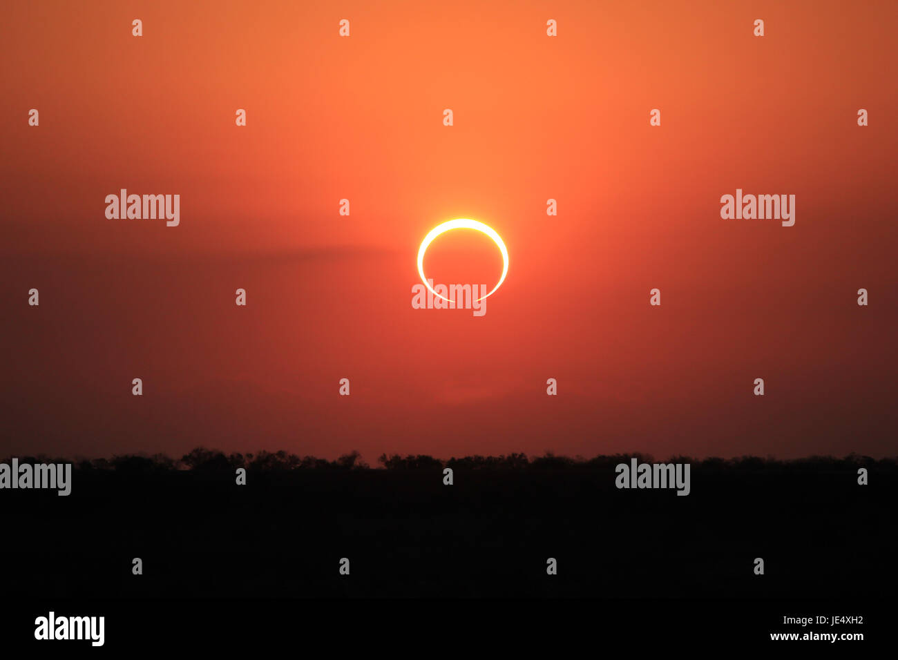 Ring of Fire Solar Eclipse #6 - Stock Image