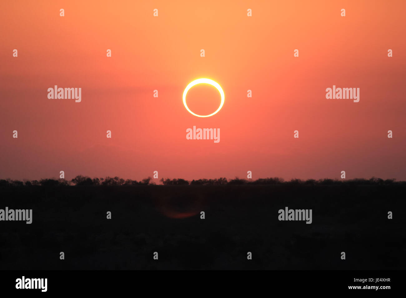 Ring of Fire Solar Eclipse #3 - Stock Image