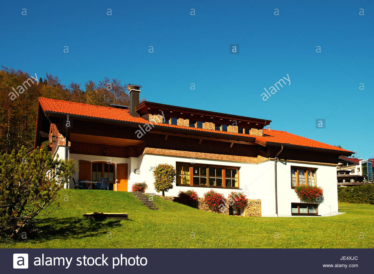 Einfamilienhaus / single family house Stock Photo