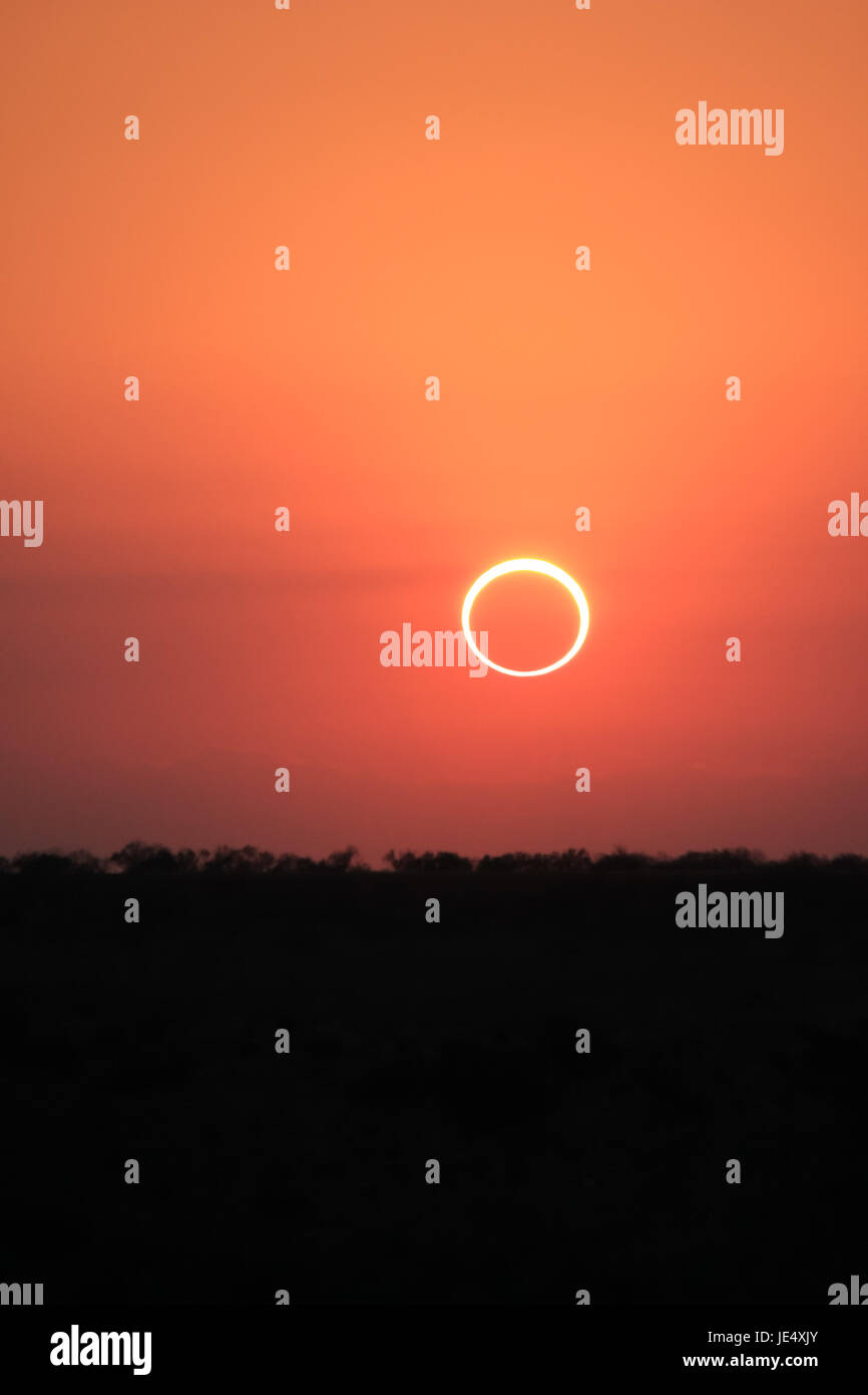 Ring of Fire Solar Eclipse #1 - Stock Image