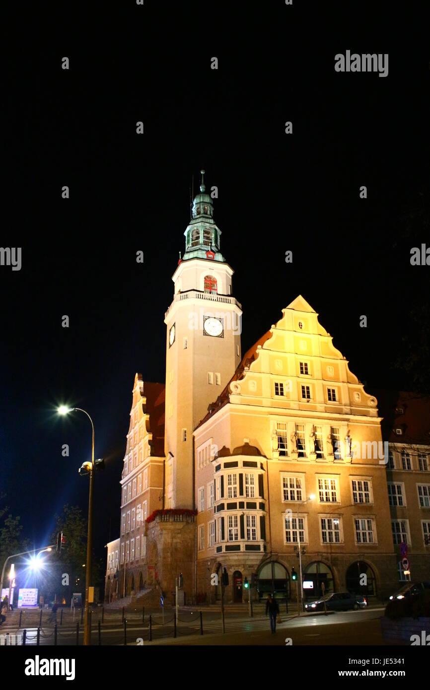 city hall in olsztyn east prussia - Stock Image