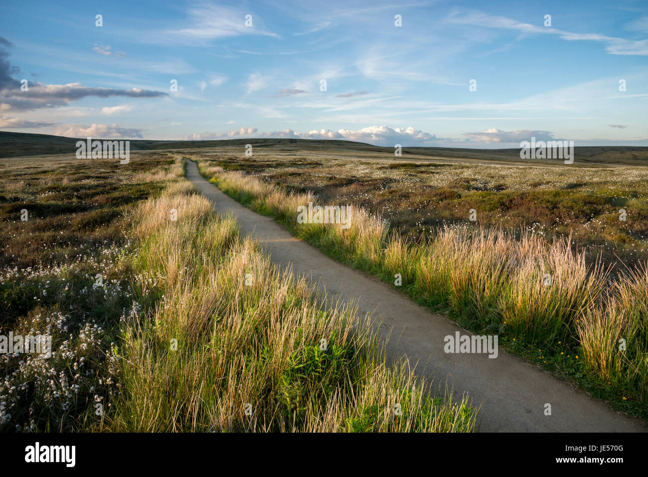The Pennine way near Glossop, North Derbyshire, England. - Stock Image