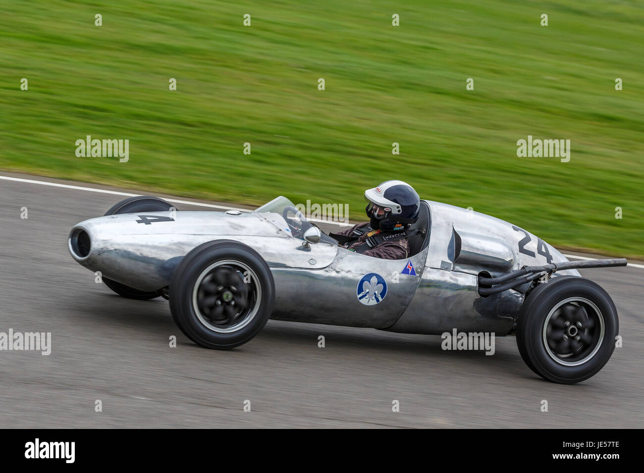 1956 cooper-climax t41 with driver sid hoole during the brabham.