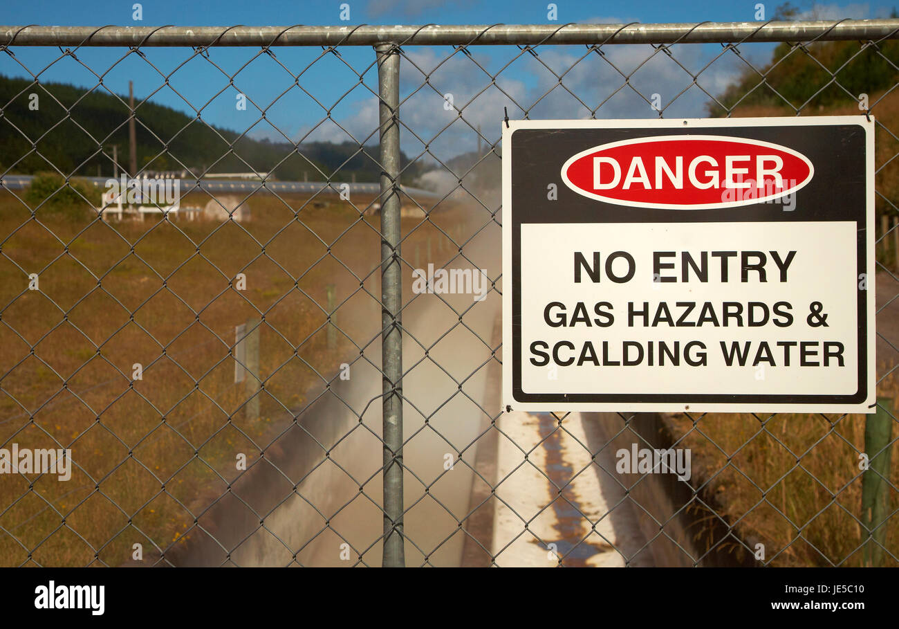 Geothermal plant taupo - Stock Image