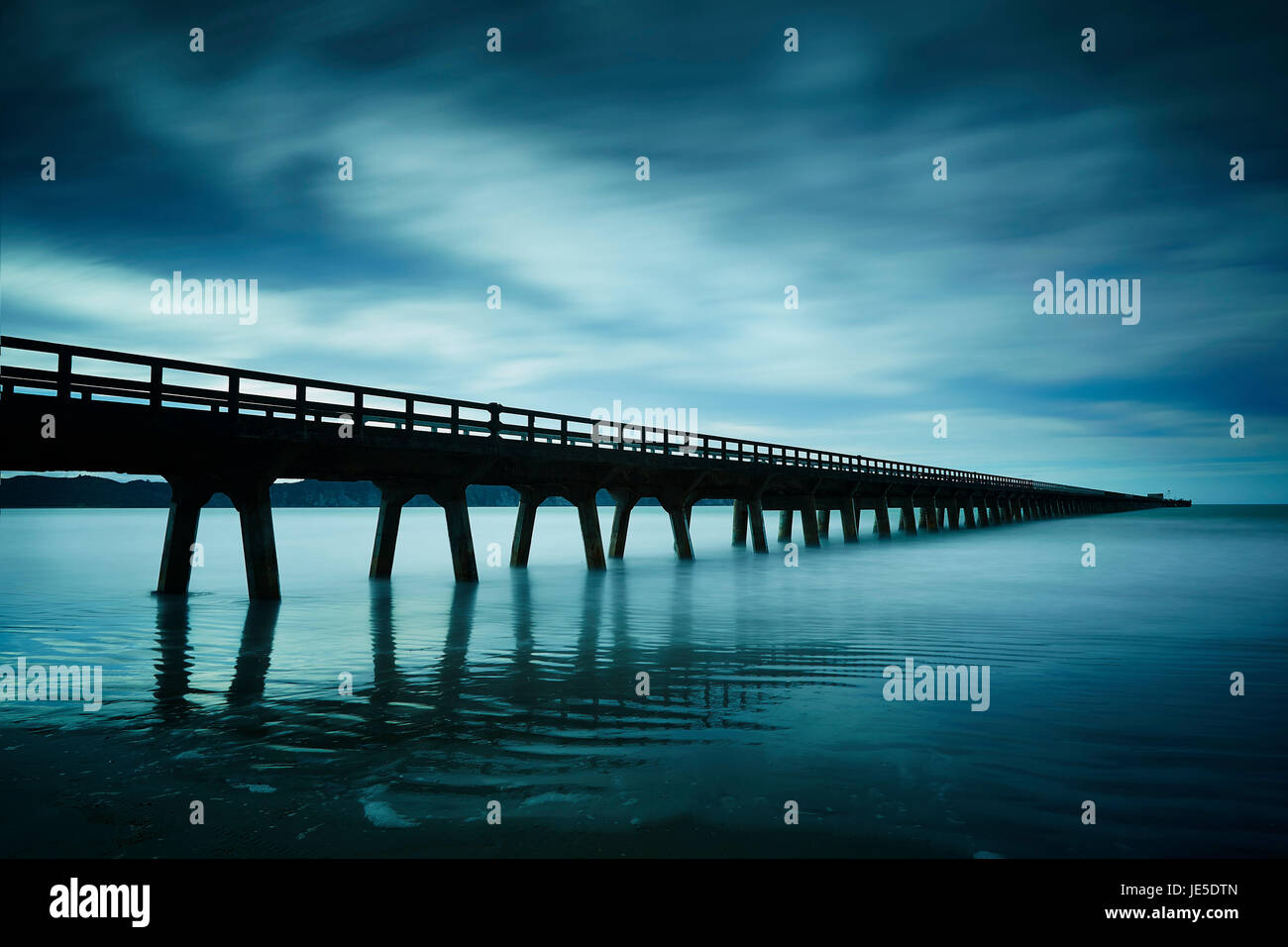 Tolaga bay Wharf , East coast - Stock Image