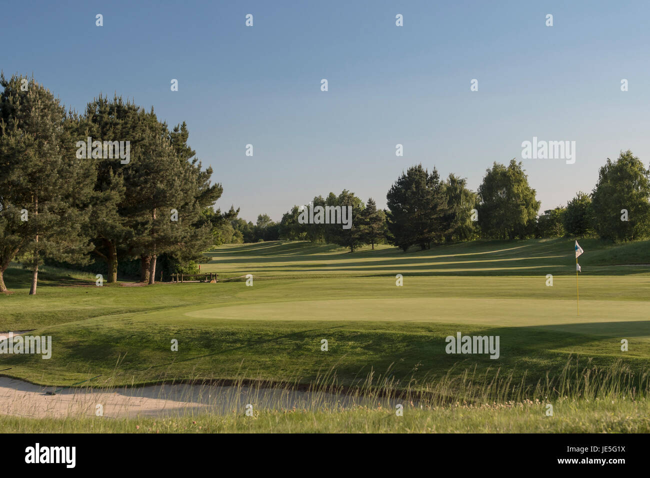 Golf course in England - Stock Image