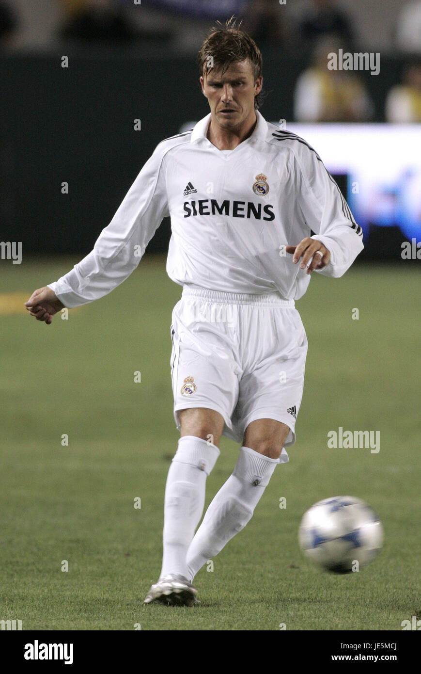 503489c2f DAVID BECKHAM REAL MADRID CF HOME DEPOT CENTER CARSON LOS ANGELES USA 19  July 2005 -
