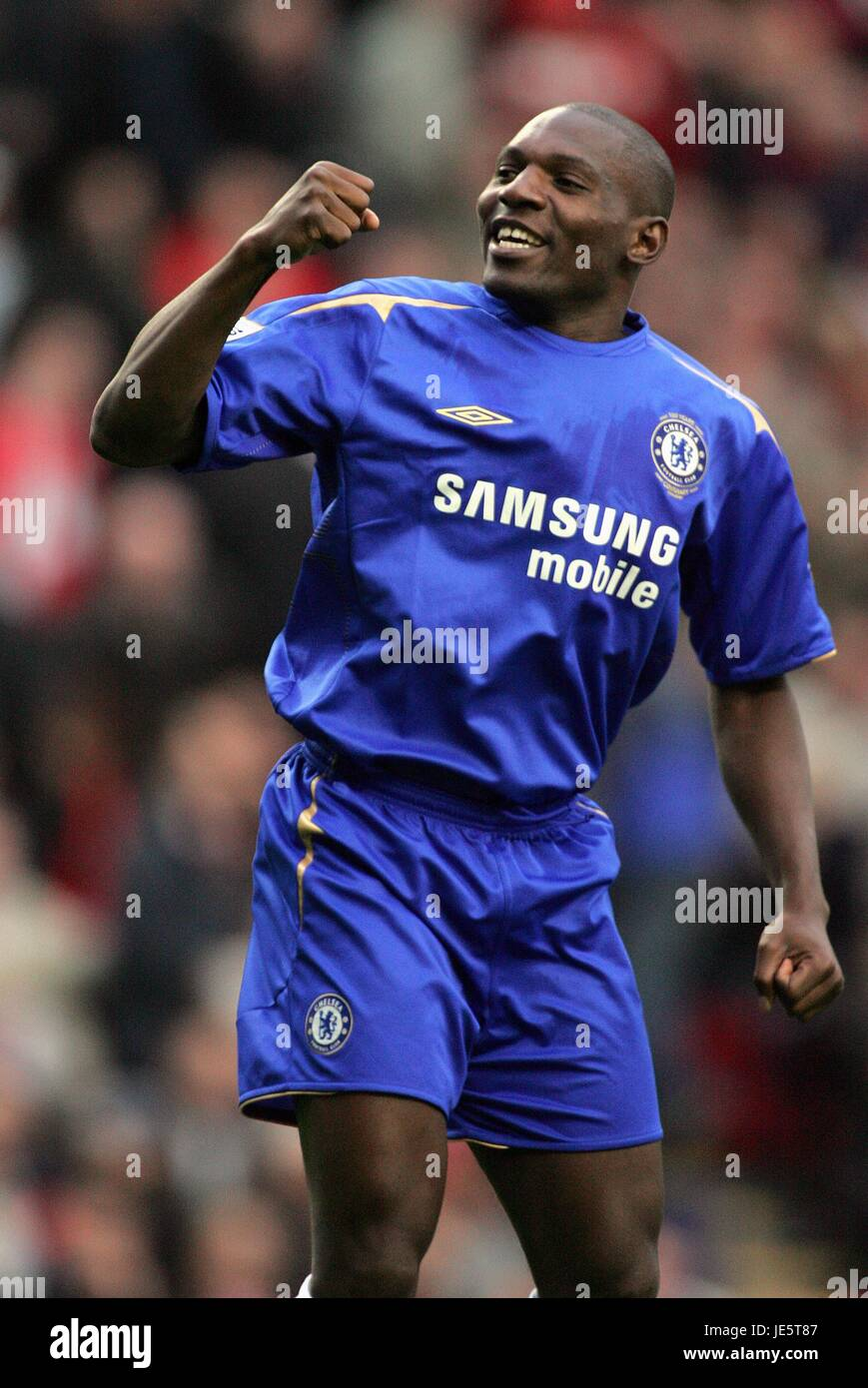 GEREMI CELEBRATES LIVERPOOL V CHELSEA 02 October 2005 - Stock Image