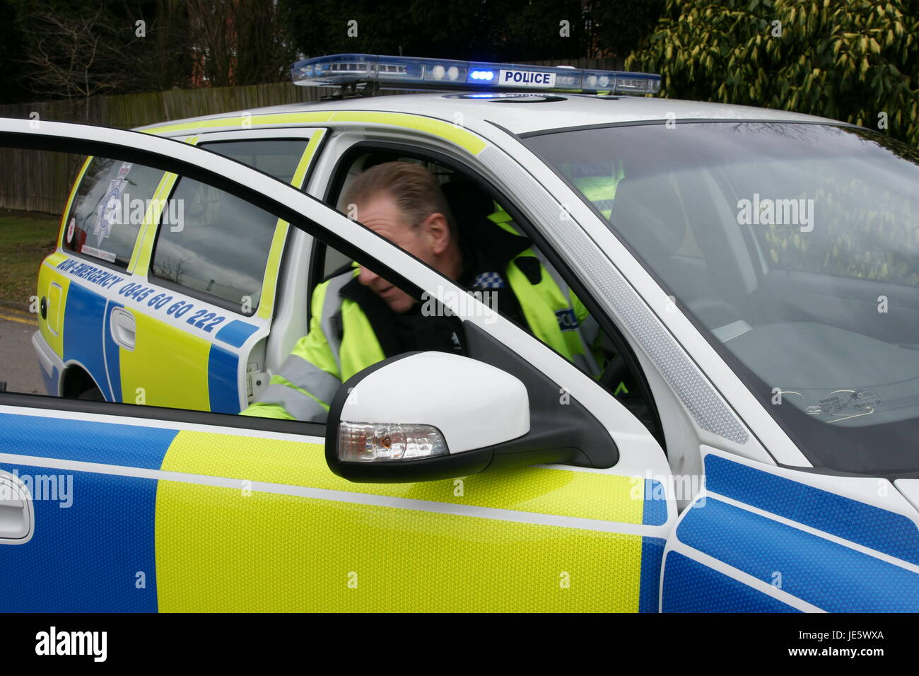 police dealing with terrorist incident - Stock Image