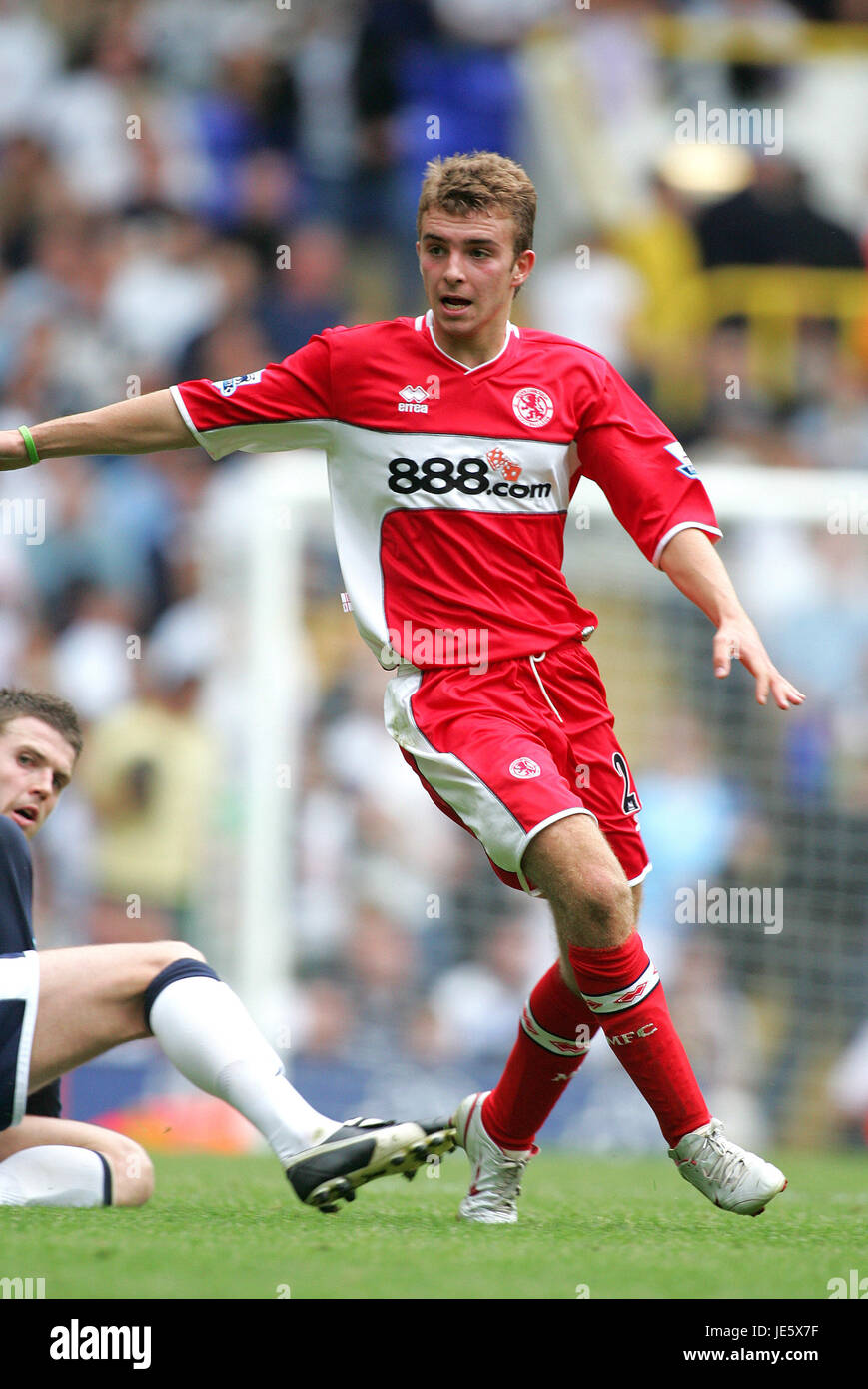 JAMES MORRISON MIDDLESBROUGH FC WHITE HEART LANE TOTTENHAM 20 August 2005 - Stock Image