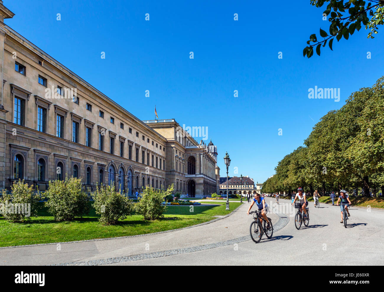 Munich Residenz. The Hofgarten aspect of the Residenz, the Bavarian royal palace, Munich, Bavaria, Germany - Stock Image