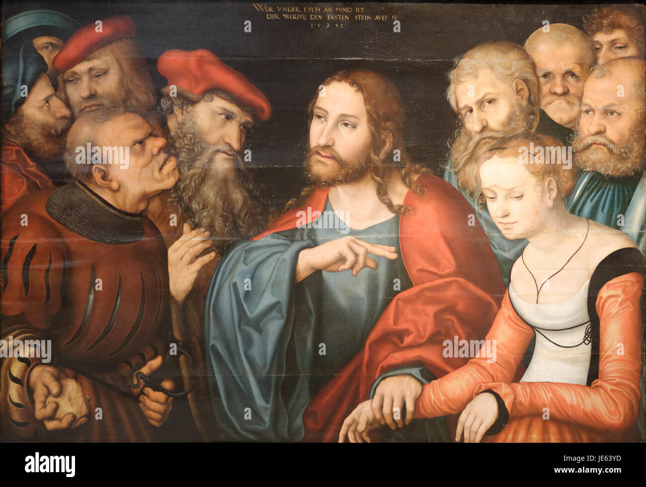 Christ and the adulteress - Lucas Cranach the Elder - Stock Image