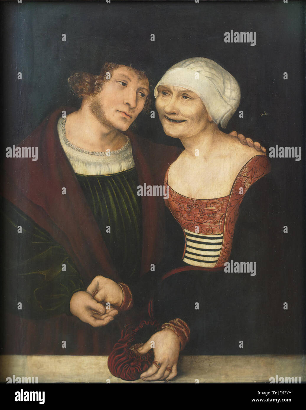 The Ill-Matched Couple Lucas Cranach the Elder - Stock Image
