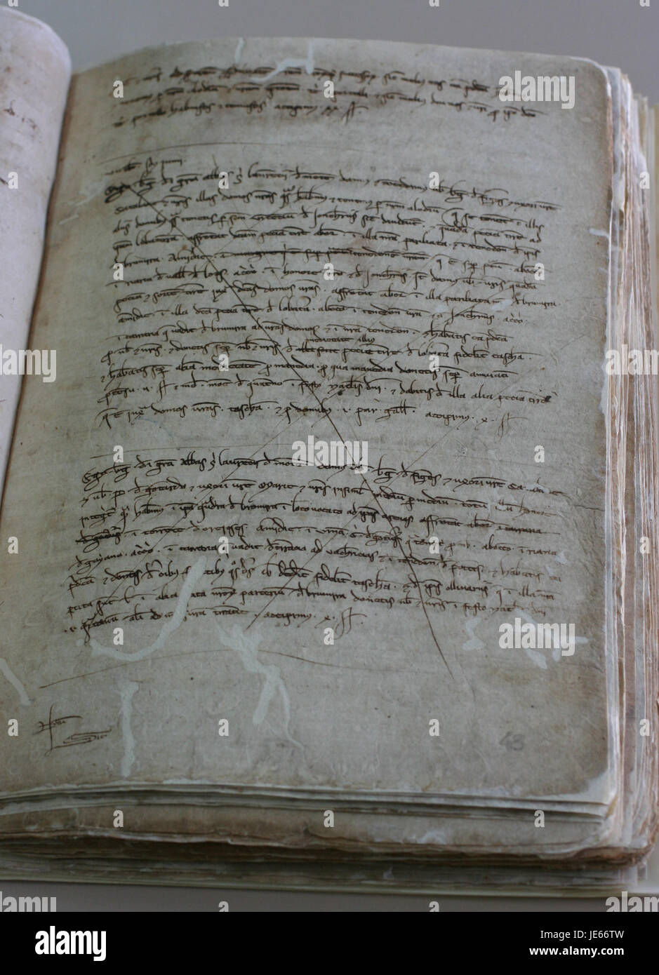 Capbreu bertran acolit 1237-1242f. 43r acvoc - Stock Image
