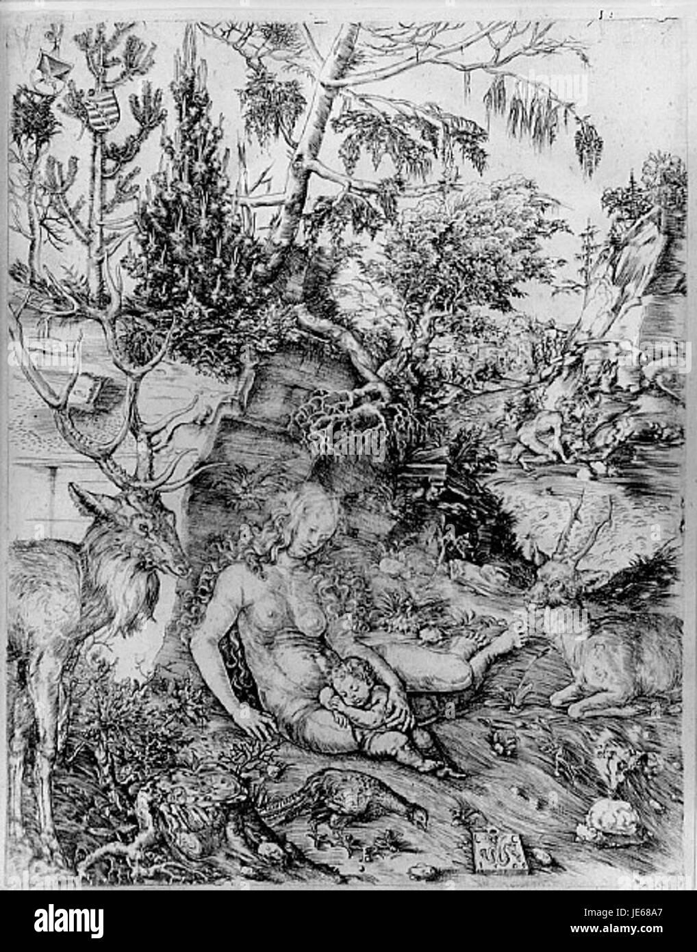 Lucas Cranach the Elder - The Penance of St. John Chrysostom - Stock Image
