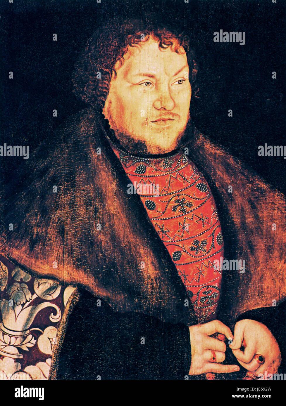 Lucas Cranach (I) - Joachim I Nestor - Jagdschloss Grunewald - Stock Image