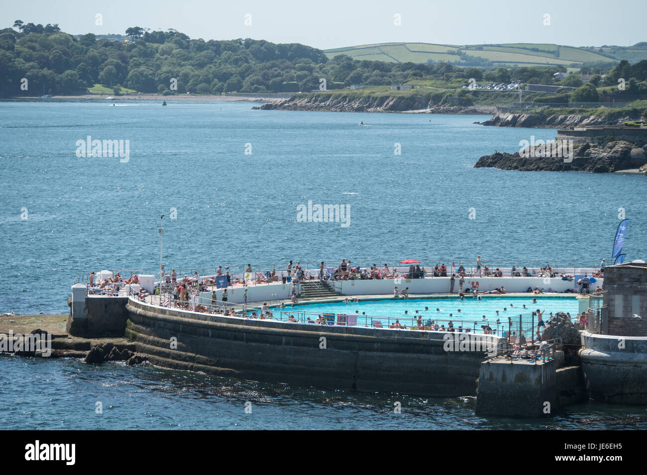 Paul Slater/PSI - Inside Pool and Lido, On Plymouth Hoe, Devon - Stock Image